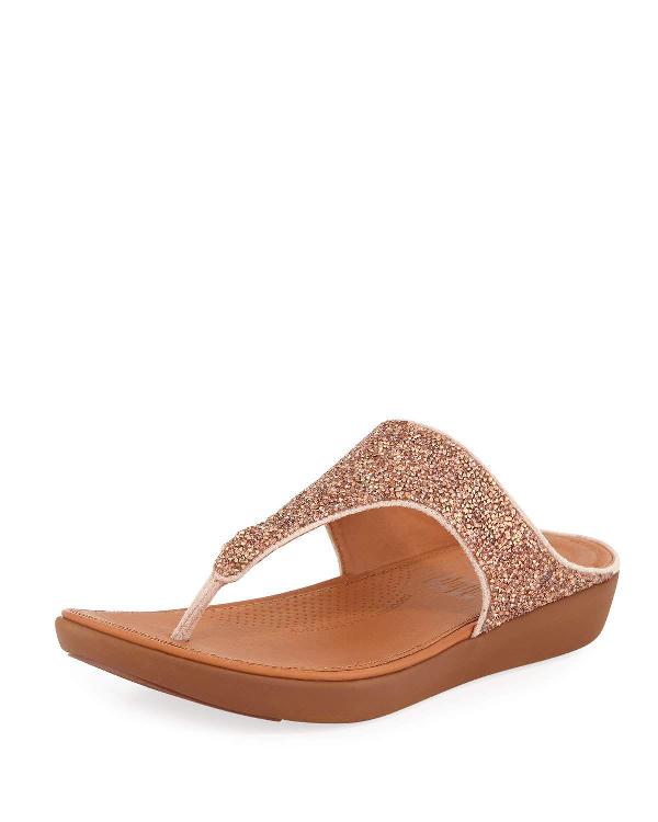 53e940f326f Fitflop Banda Ii Quartz Glitter Thong Sandals In Beige