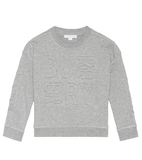 Burberry Kids' Cotton Sweater In Grey