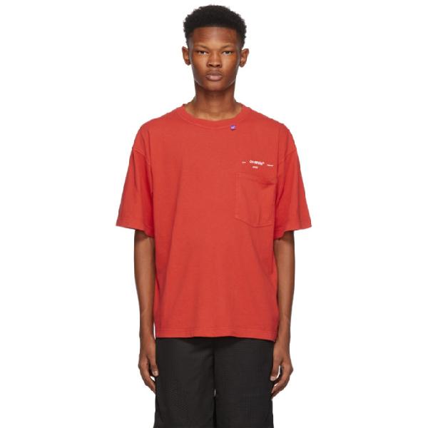 Off-White Men's 80S Vintage Pocket T-Shirt, Red