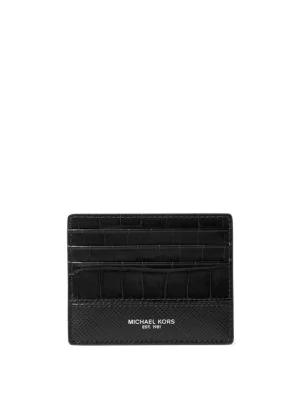 5a550135cb6234 Michael Kors Harrison Tall Card Case In Black | ModeSens
