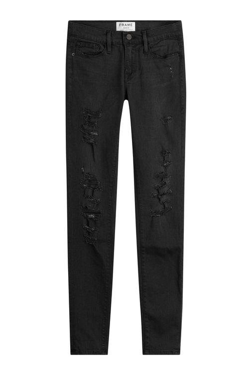 Frame Le Skinny De Jeanne Skinny Jeans In Grey