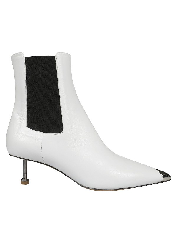 latest collection baby classic style Maison Margiela Screw Kitten Heel Ankle Boots in White