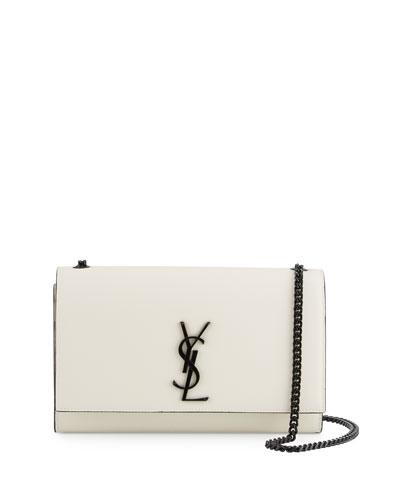 8fa3af39eb9 Saint Laurent Classic Medium Kate Monogram Satchel In Dove White And ...