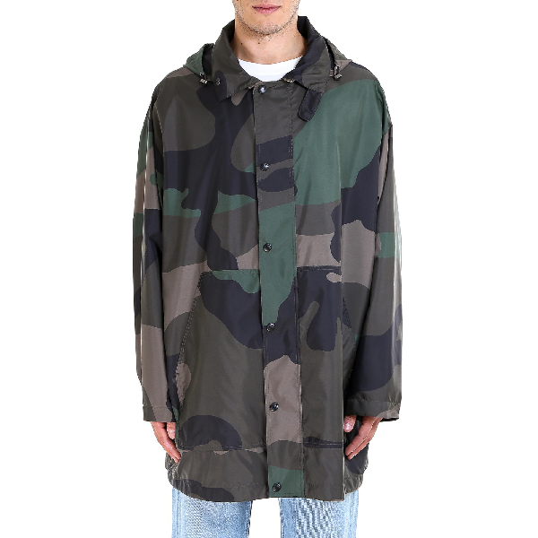 a469d63f379ff Valentino Camouflage Hooded Jacket In Green | ModeSens