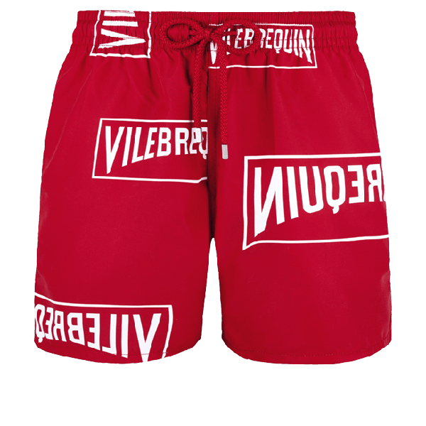 Vilebrequin (red) Aids Collaboration Swim Trunks