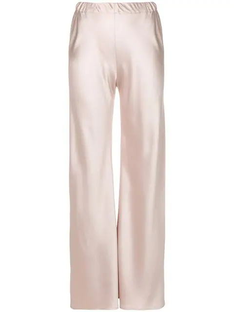 Blanca Pull-on Wide-leg Trousers In Pink