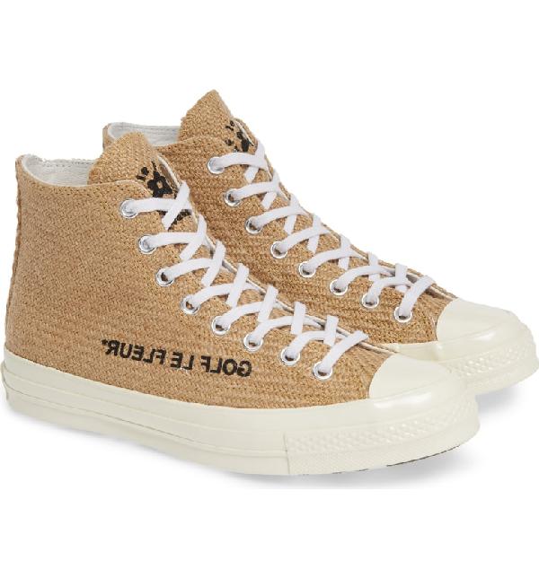 669cef10fb Converse X Golf Le Fleur  Chuck 70 High Top Sneaker In Curry  Egret ...