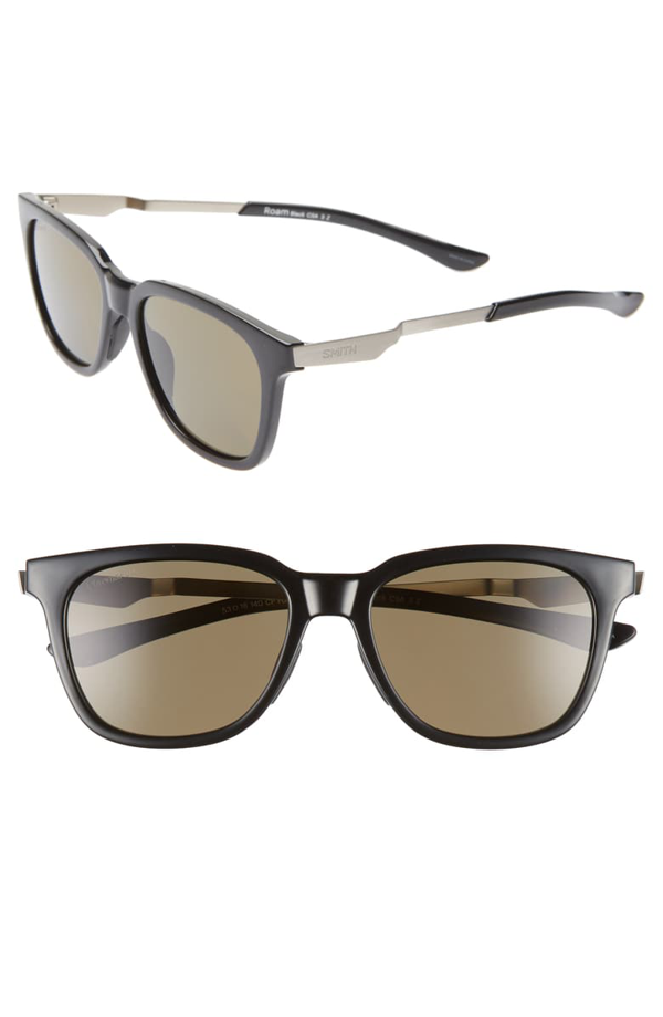 Smith Roam 53mm Chromapop(tm) Polarized Sunglasses In Black/ Green