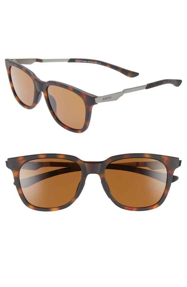 Smith Roam 53mm Chromapop(tm) Polarized Sunglasses In Matte Tortoise/ Brown
