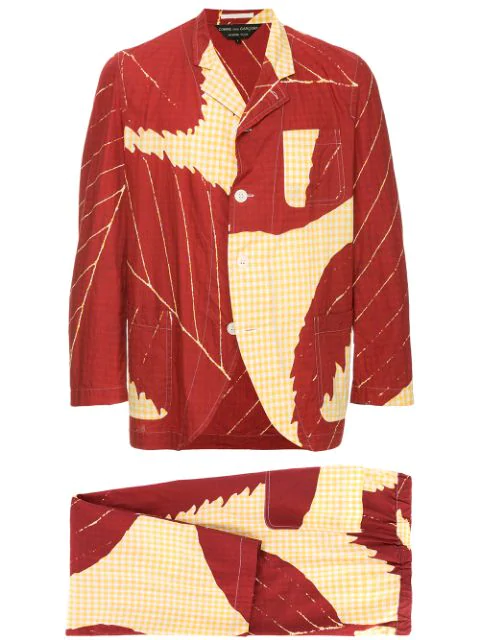 Pre-owned Comme Des Garçons Leaf Two-piece Suit In Red