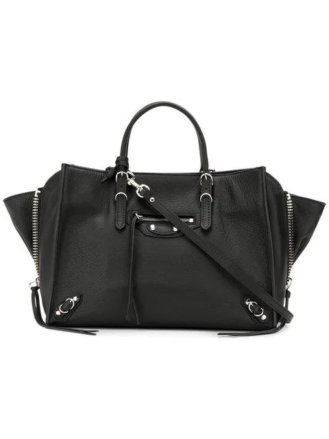 Balenciaga Papier A6 Zip Around Bag In 1000 Black