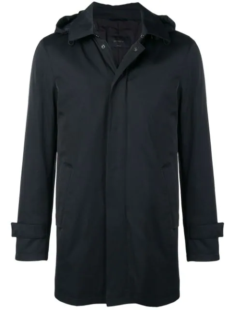 Dell'Oglio Hooded Coat In Blue