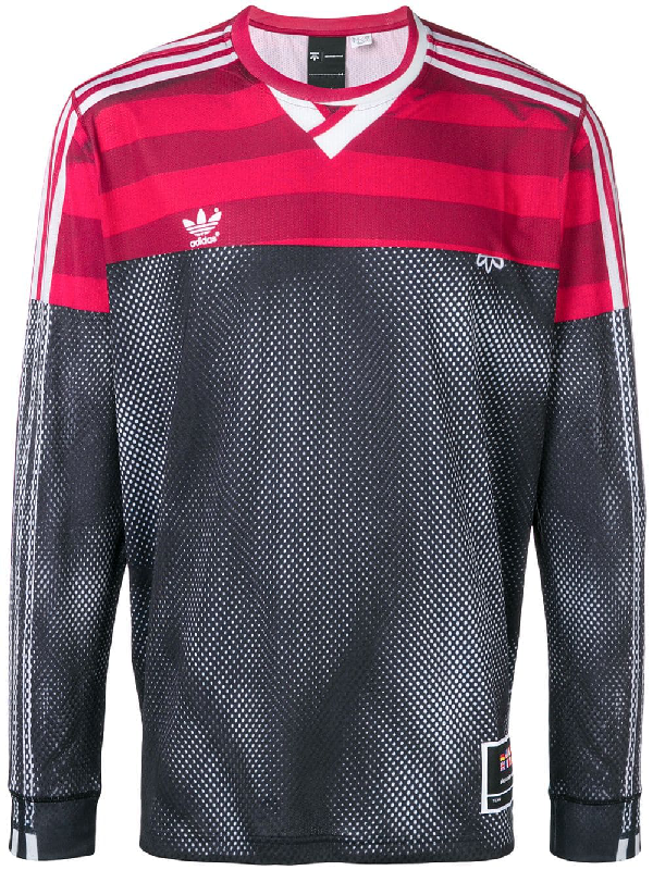 9b1b11e7 Adidas Originals By Alexander Wang Adidas By Alexander Wang Photocopy Long  Sleeve Tee In Stripes,