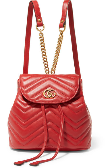 5ddb1fa3669 Gucci Gg Marmont 2.0 Matelasse Leather Mini Backpack - Red