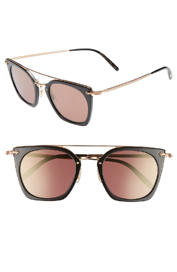 a3e86c58381be Oliver Peoples Dacette 50Mm Square Aviator Sunglasses - Black  Rose Gold