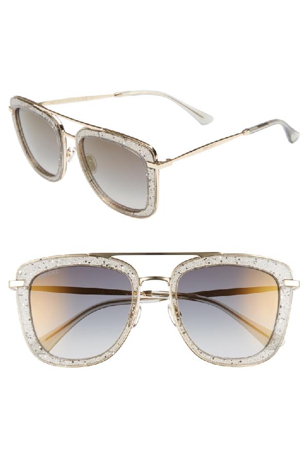15a25f359e8 Jimmy Choo Women s Glossy Mirrored Brow Bar Square Sunglasses