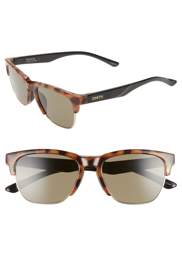 Smith Haywire 55mm Chromapop(tm) Sunglasses In Honey Tortoise/ Green