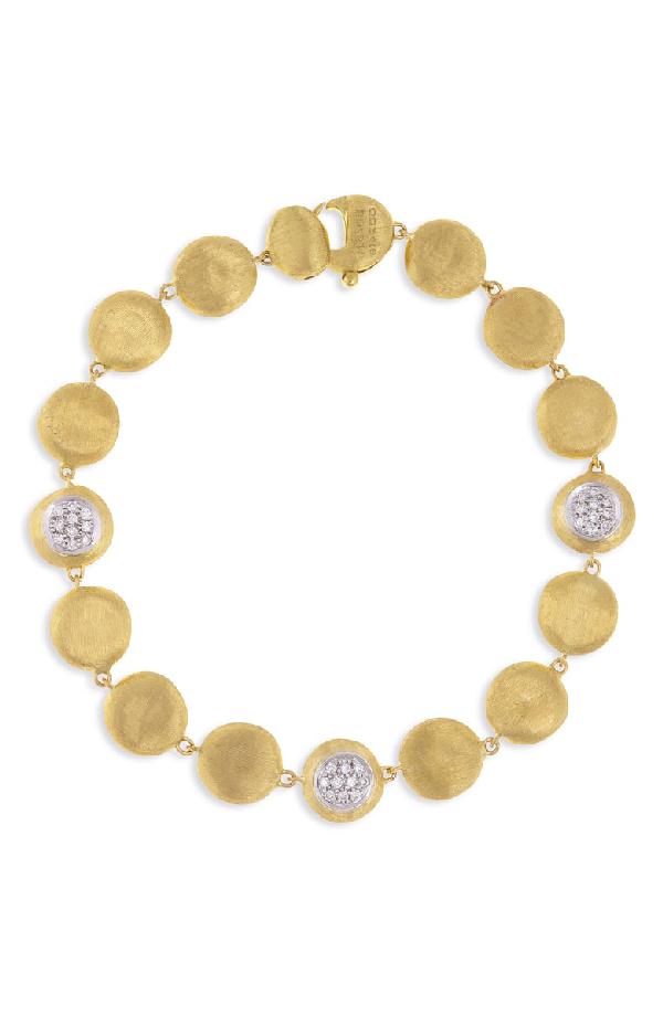 Marco Bicego Jaipur Diamond Disc Bracelet In Yellow Gold