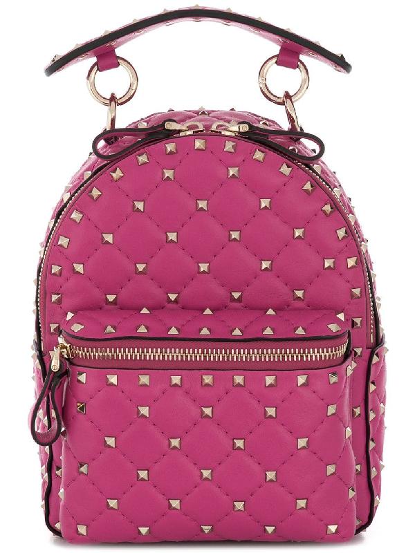 c0b39bf98f Valentino Garavani Rockstud Mini Backpack - Pink | ModeSens