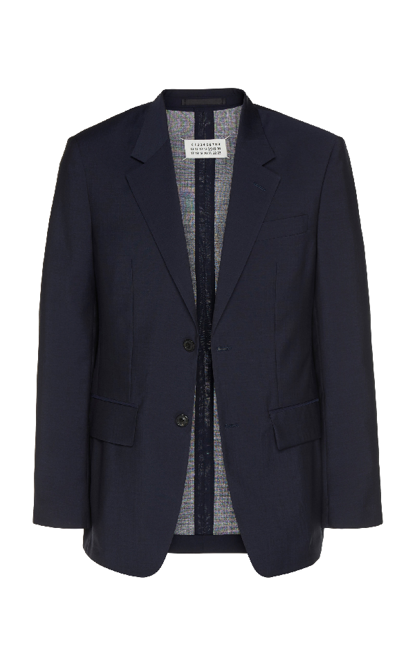 Maison Margiela Single-breasted Wool-blend Suit In Navy