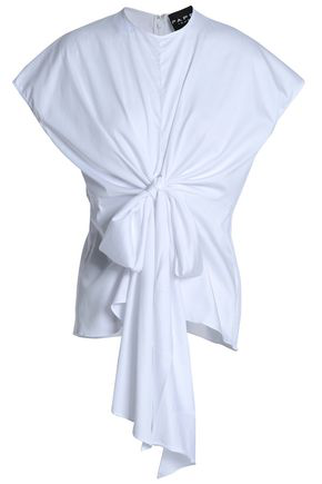 Paper London Woman Tide Tie-Back Linen Top White