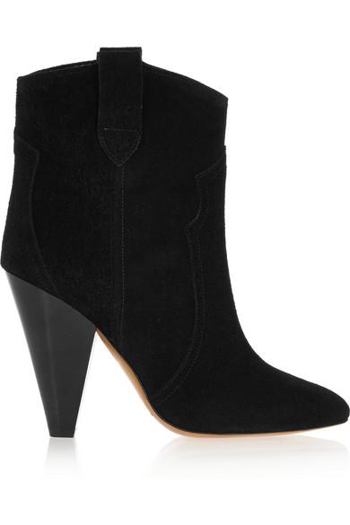 Isabel Marant Woman ÉToile Roxann Suede Ankle Boots Black