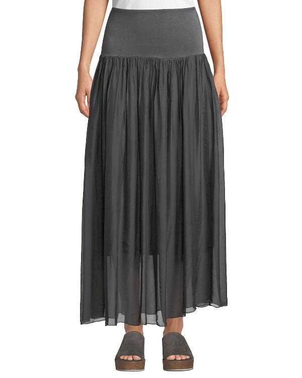 162a01e36ec1bb Moda Seta Chiffon Convertible Maxi Skirt In Blue | ModeSens