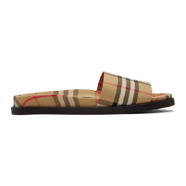 9754550f3d Men's Ashmore Check Slide Sandal, Yellow in Antylw