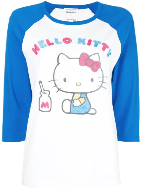 db293a683 Chinti & Parker X Hello Kitty Graphic Baseball Tee In White | ModeSens