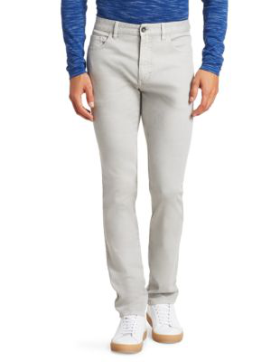 Saks Fifth Avenue Collection Straight-leg Trousers In Light Grey