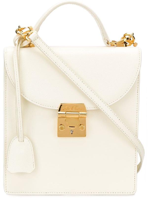 96048baaf916c2 Mark Cross Uptown Bag In White   ModeSens