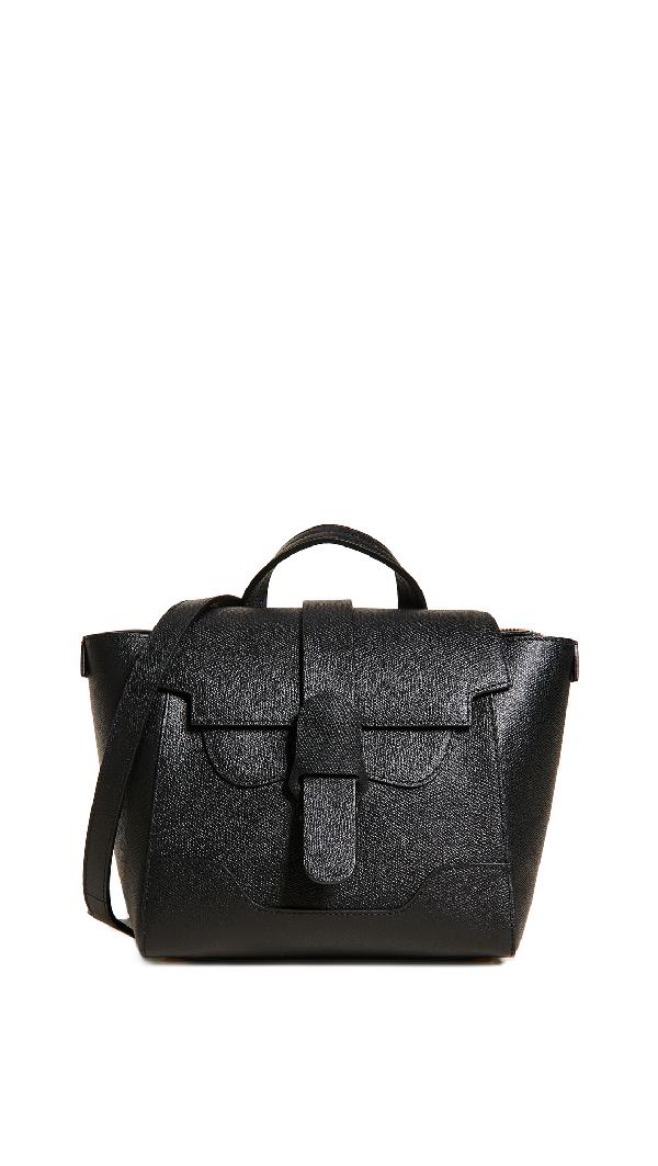 Senreve Mini Maestra Leather Satchel - Beige In Noir