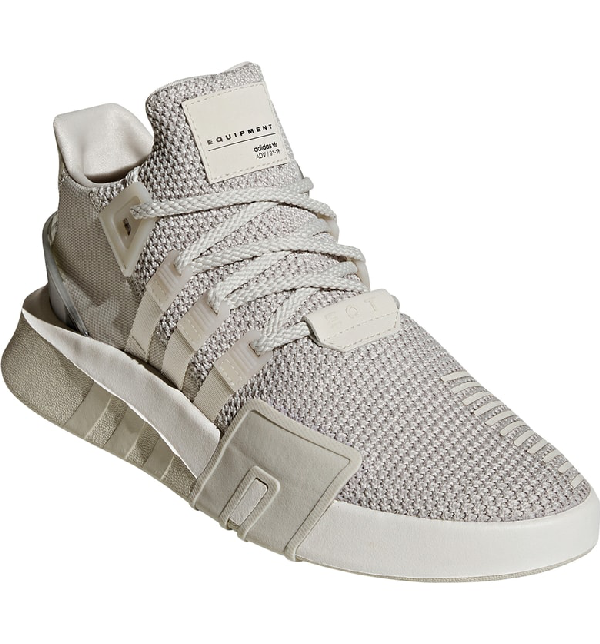 Eqt Basketball Adv Sneaker In Grey/ Chalk White
