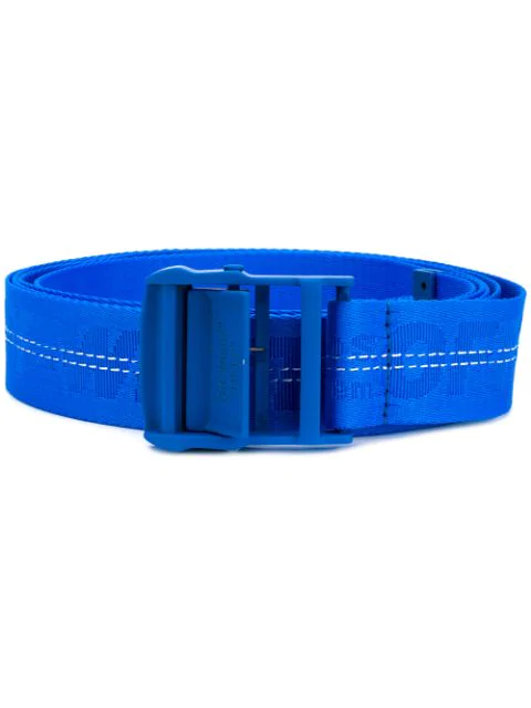 Off-white Off White | Classic Industrial Belt In Nude Polyamide In Blue