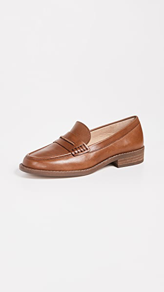 Madewell The Elinor Loafers In Dark Chestnut