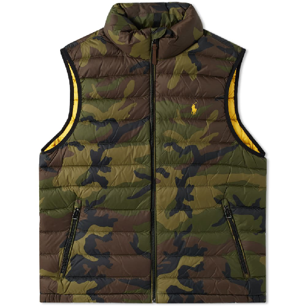 619aae81a89 Polo Ralph Lauren Camo Lightweight Down Gilet In Green