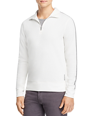 Michael Kors Double-knit Quarter-zip Sweater - 100% Exclusive In White