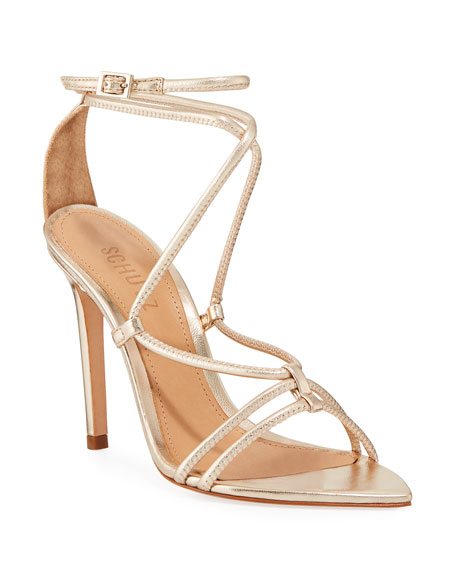 70314ab3e64 Women's Evellyn Strappy High-Heel Sandals in Platina
