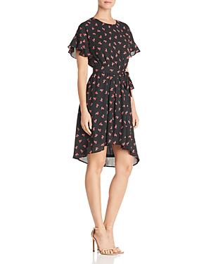Aqua Floral Print High/low Dress - 100% Exclusive In Black