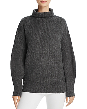 French Connection Urban Flossy Ribbed Knit Sweater In Ink Green