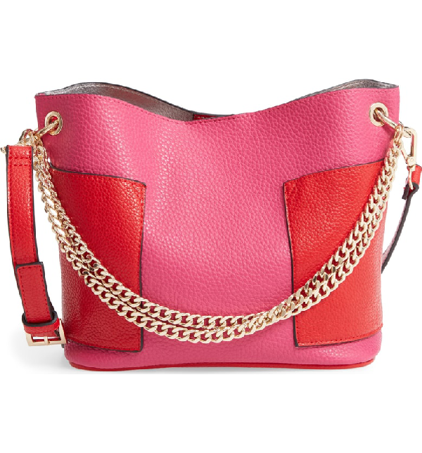 Steve Madden Bettie Faux Leather Bucket Bag - Pink In Pink/ Multi