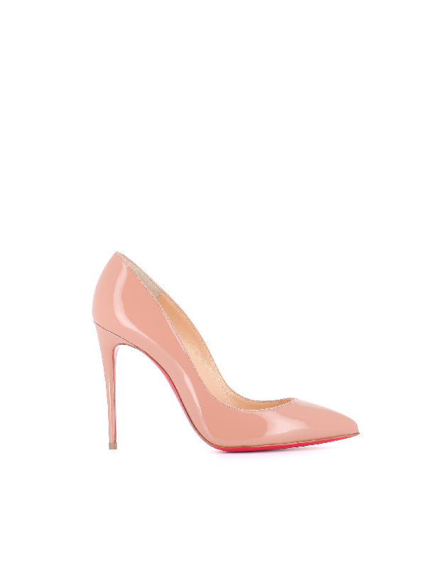 74151cbb078 Pigalle Follies Patent Pointed-Toe Red Sole Pump in Medium Pink