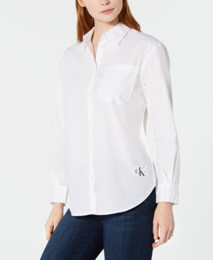 Calvin Klein Jeans Est.1978 Cotton Shirt In Bright White