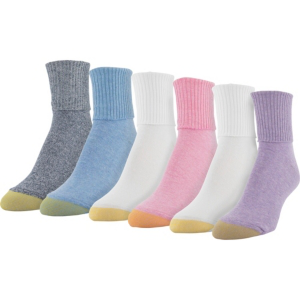 Gold Toe 6-pk. Casual Turn-cuff Socks 4341f8 In Soft Purple Multi
