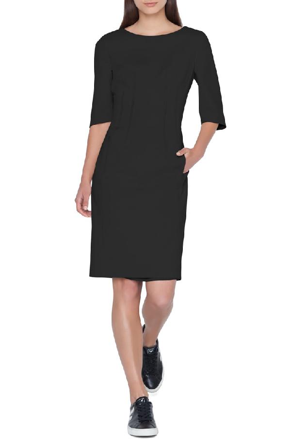 Akris Cotton Blend Dress In 009 Black