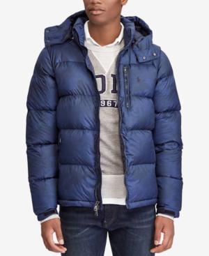5432742f4 Polo Ralph Lauren Men s Big   Tall Water-Repellent Down Jacket In Aviator  Navy Snow