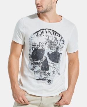 Guess Men's Punk Skull T-shirt In Regency Beige