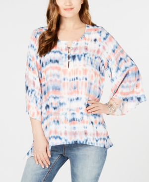 Karen Kane Printed Kimono-sleeve Top