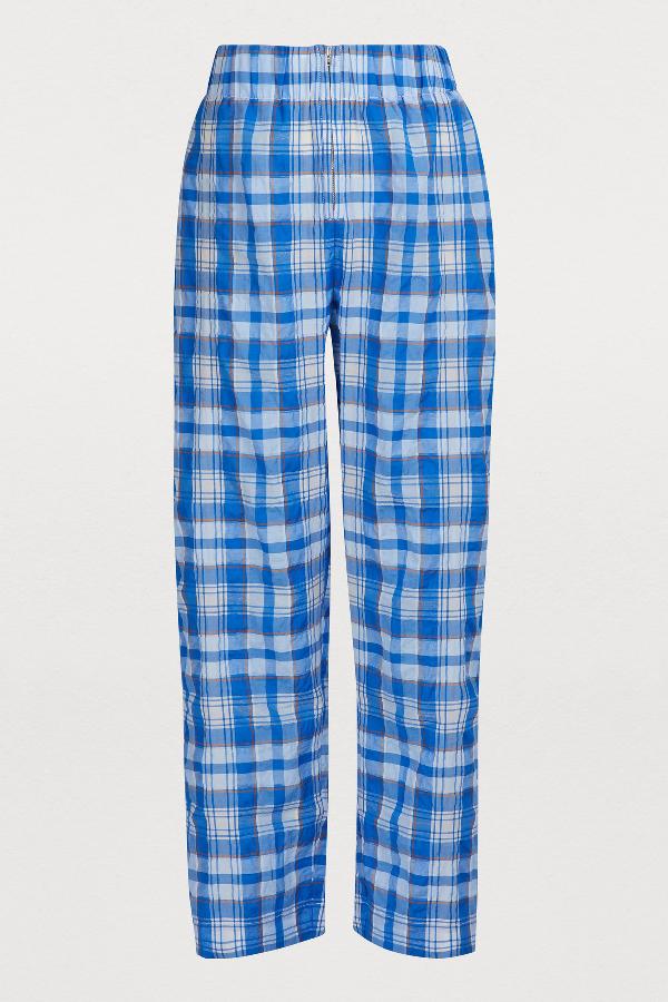 Ganni Charron Pants In Lapis Blue