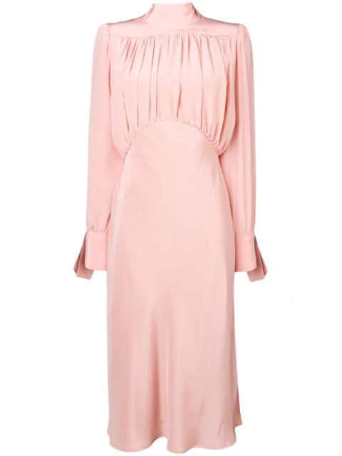 Erika Cavallini Draped Front Dress - Pink